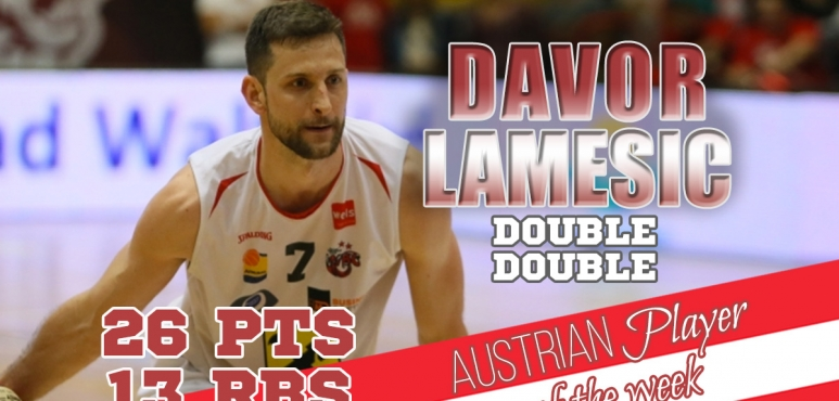 Lamesic's clinches Austrian Player of the Week award