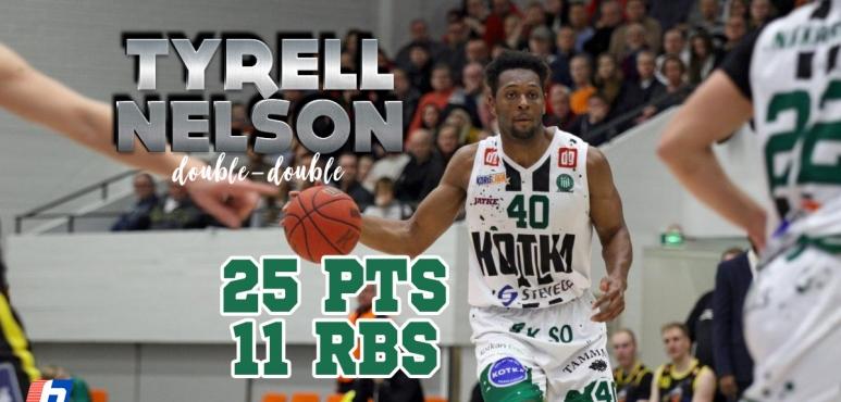 Tyrell Nelson's double-double in Helsinki