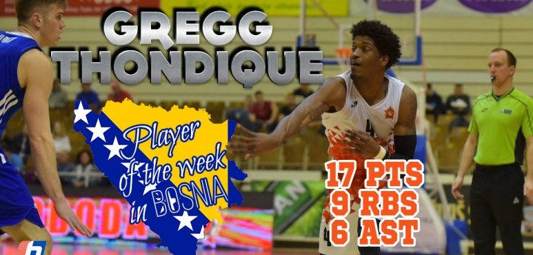 Gregg Thondique player of the week in Bosnia