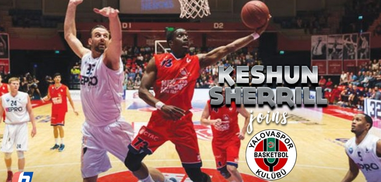Keshun Sherrill  signs at Yalova Bld