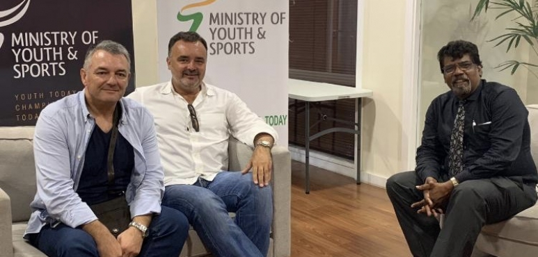 Bojan Tanjevic Meets Mauritisius Sports Ministry