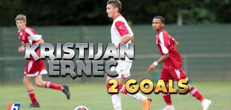 2 goals for Kristijan Ernec