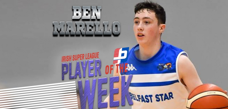 Ben Marello, best player of Irish Super League round 9