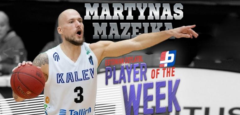 Mazeika claims Estonian EstLatBL weekly honour