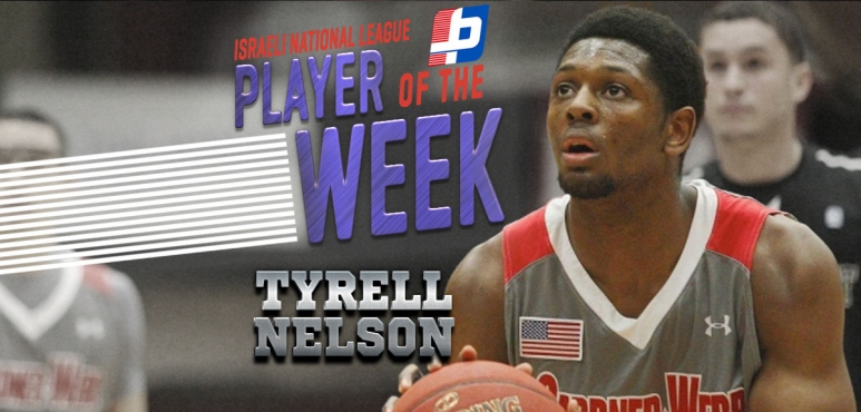 Israeli National League round 10 best performance: Tyrell Nelson