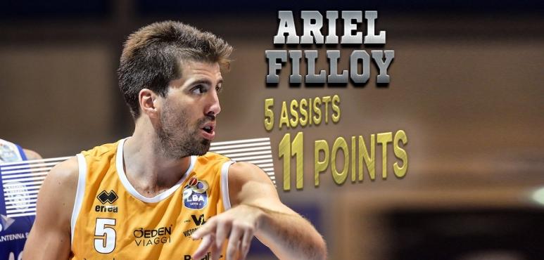 Filloy helps Pesaro to win over Venezia