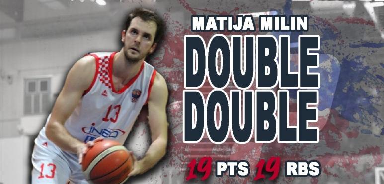 Matija Milin's double double in Bosnia