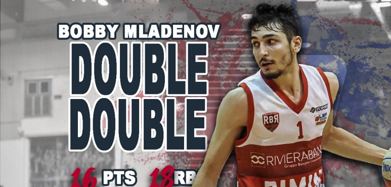 Mladenov's double-double leads Rimini to victory