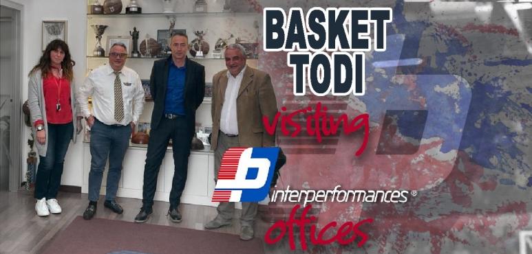 Basket Todi visiting Interperformances offices