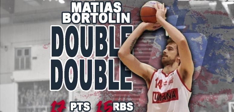 Matias Bortolin's double-double against Rimini