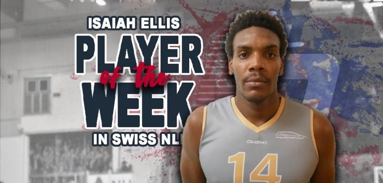 Isaiah Ellis gets MVP of the Week award for Swiss NLB