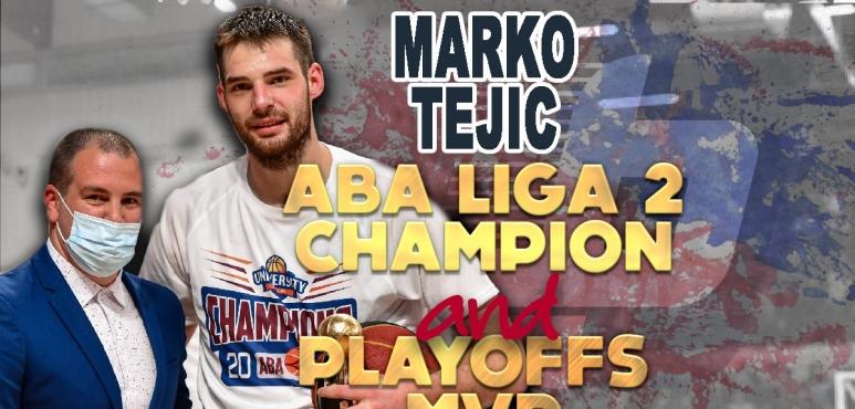Marko Tejic grabs ABA League 2 and MVP title