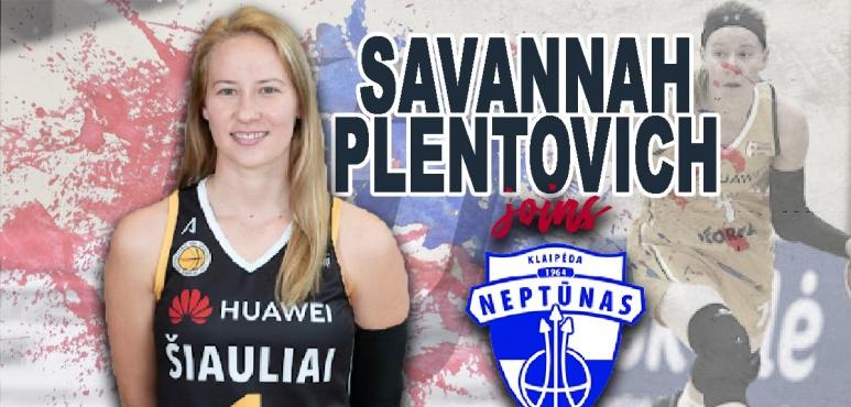 Savannah Plentovich joins Neptunas