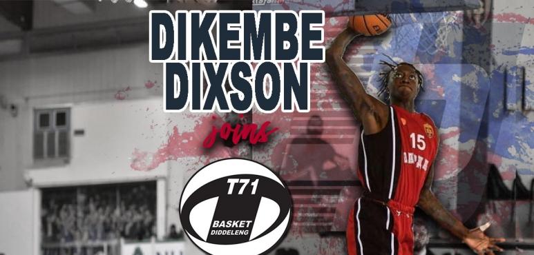Dikembe Dixson joins Basket T71 Diddeleng