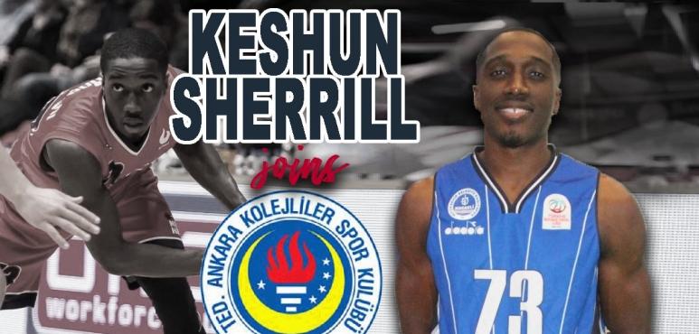 TED Ankara sign Keshun Sherrill